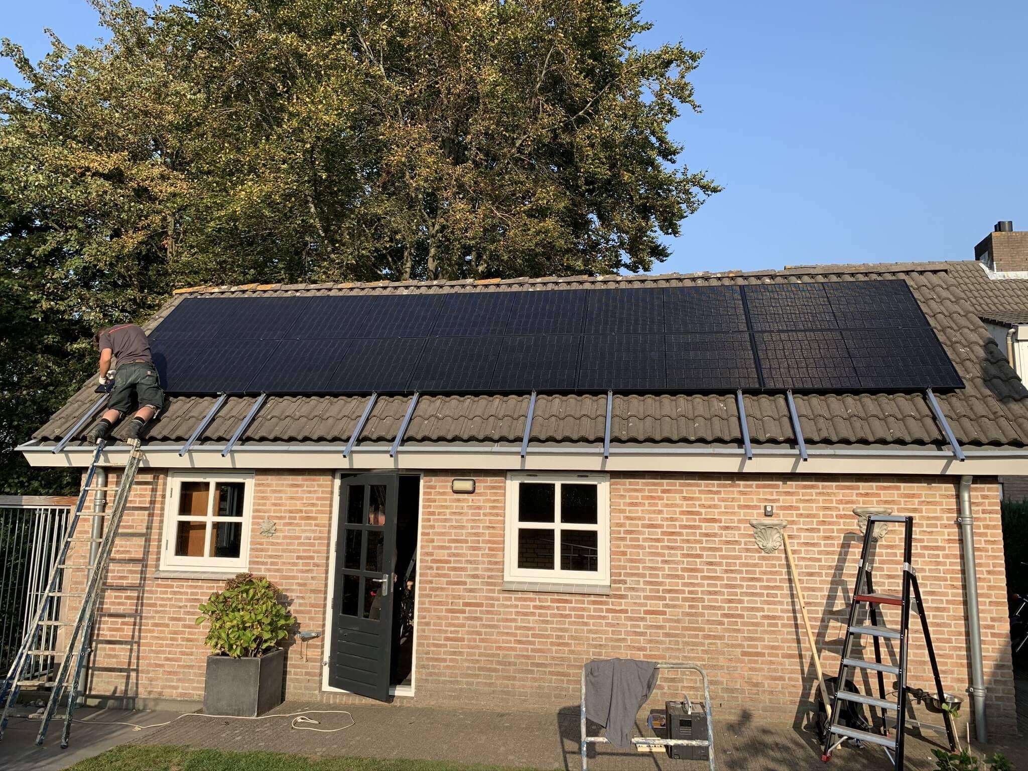 Installatie zonnepanelen woning in Terheijden